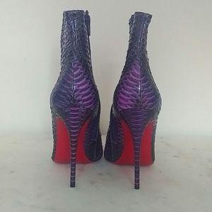 CHRISTIAN LOUBOUTIN - So Kate snakeskin ankle boot